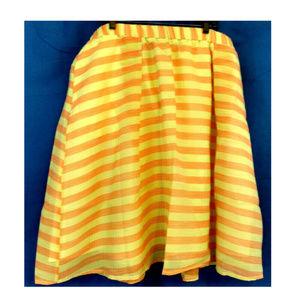 Lane Bryant Skirts - Lane Bryant 28 Skirt Orange Yellow Stripe Circle